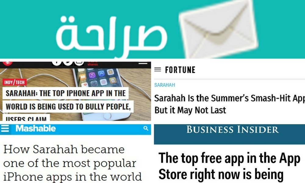 is sarahah on the app store